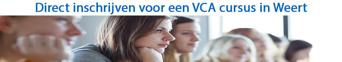 Direct inschrijven voor een VCA cursus in Weert